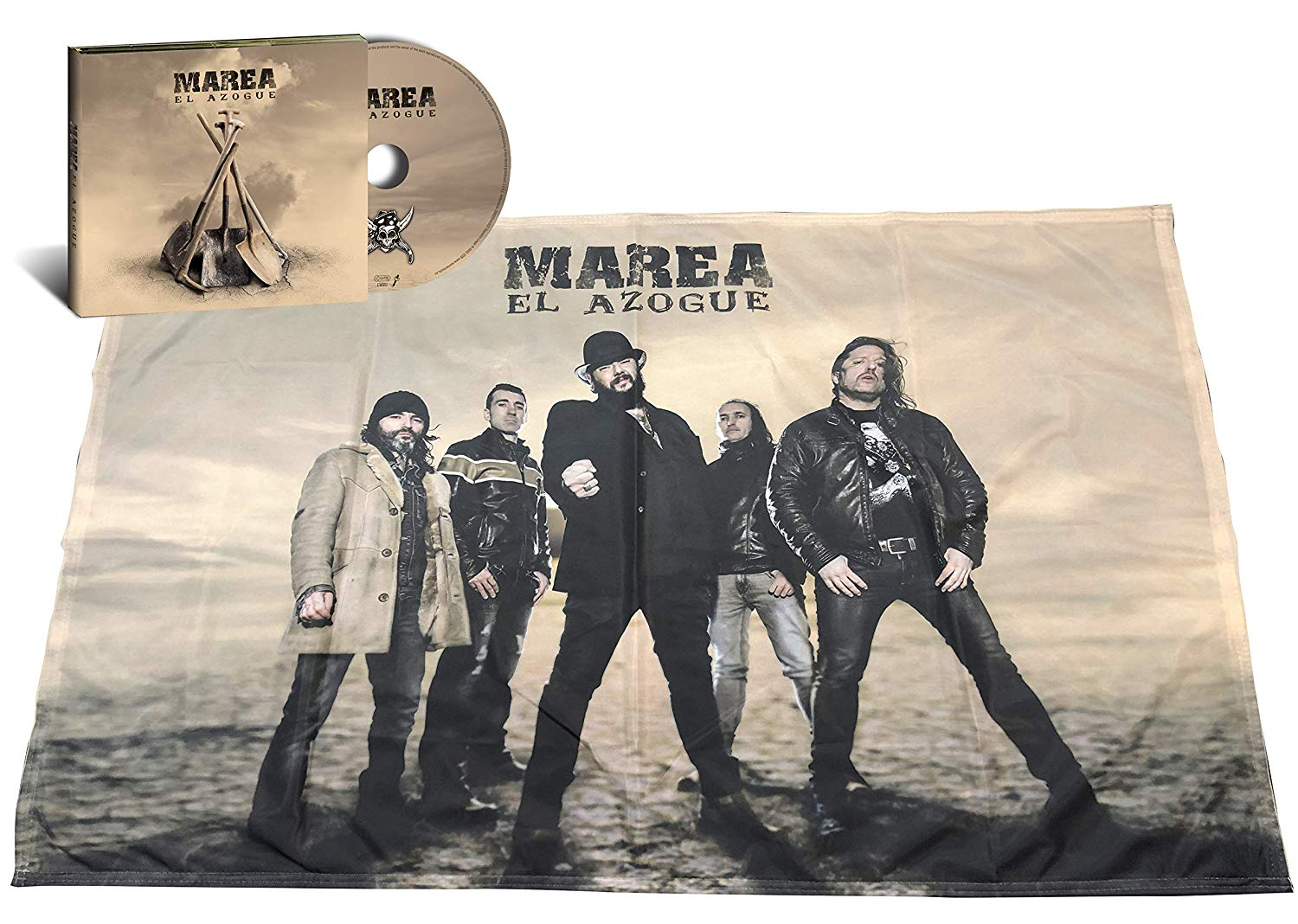 EL AZOGUE -CD + BANDERA FIRMADO-