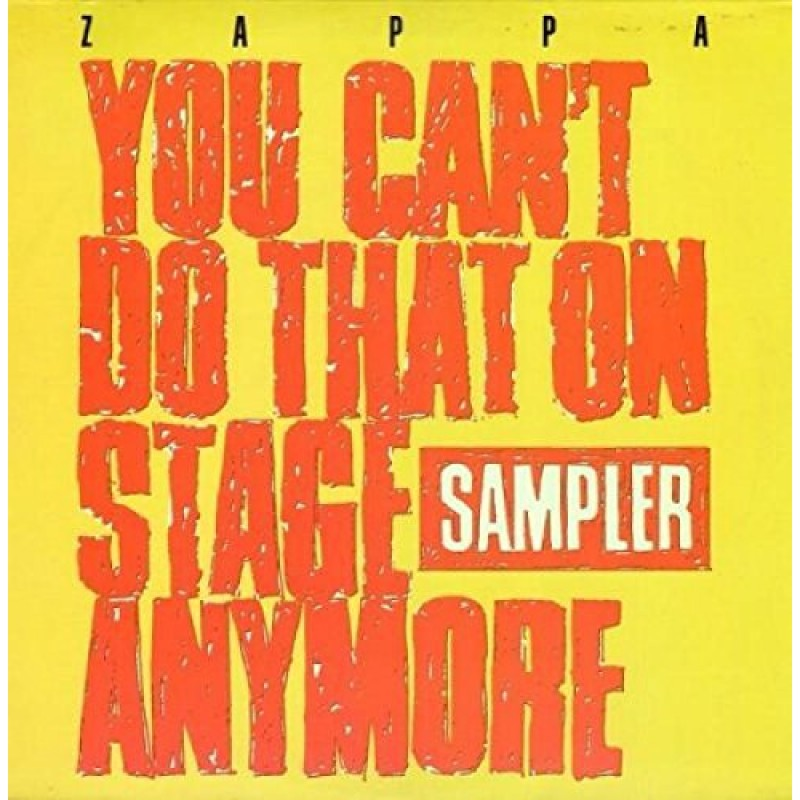 YOU CANT DO THAT ON STAGE ANYMORE -TRANSPARENT RED & YELLOW VINYL RSD 2020-