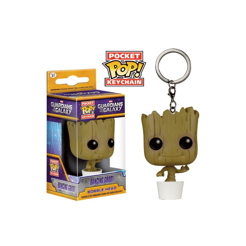 LLAVERO POP -GUARDIANES DE LA GALAXIA DANCING GROOT-