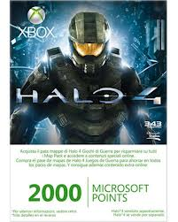 XBOX LIVE POINTS(2000 PINTS) HALO4