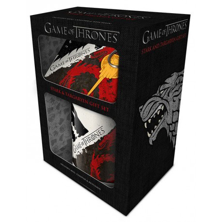 TAZA GAME OF THE THRONES -STARK & TARGARYEN GIFT SET-