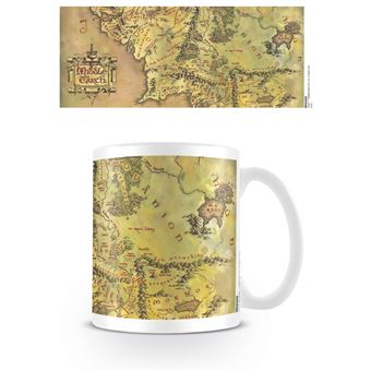 TAZA THE LORD OF THE RINGS -MAPA-