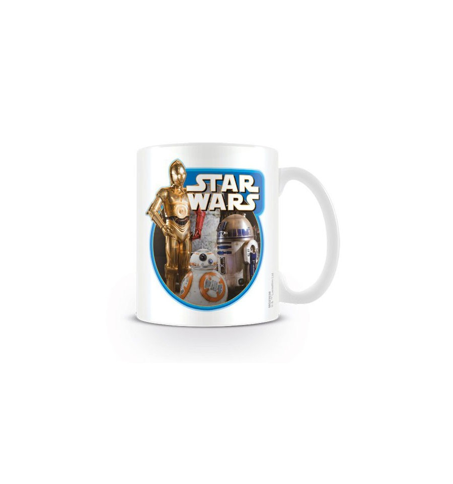 TAZA STAR WARS C3-PO R2D2 BB 8
