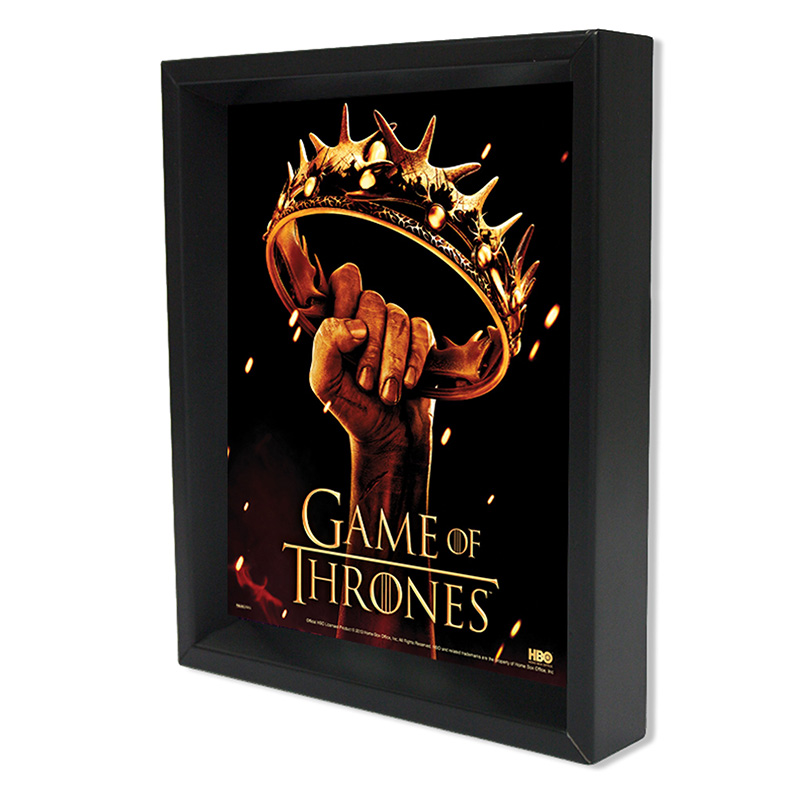 CUADRO 3D GAME OF THRONES -CROWN-