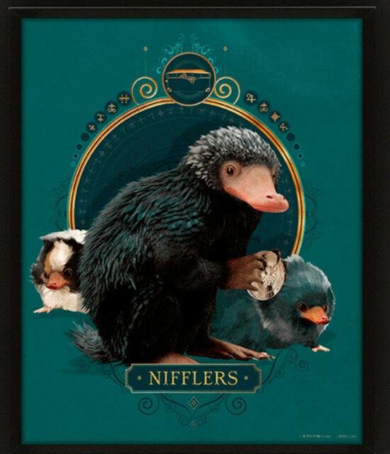CUADRO 3D ANIMALES FANTASTICOS NIFFLERS
