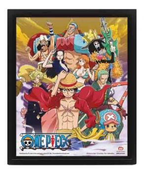 CUADRO 3D ONE PIECE STRAW HAT CREW VICTORY