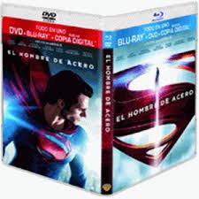 EL HOMBRE DE ACERO -COMBO BR +DVD +COPIA-