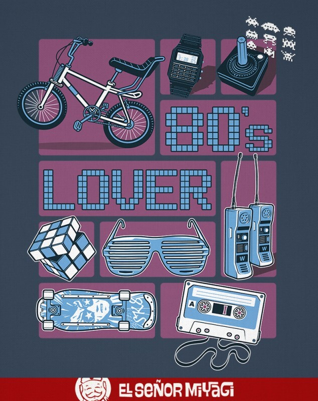 CAMISETA 80´S LOVERS -TALLA S-