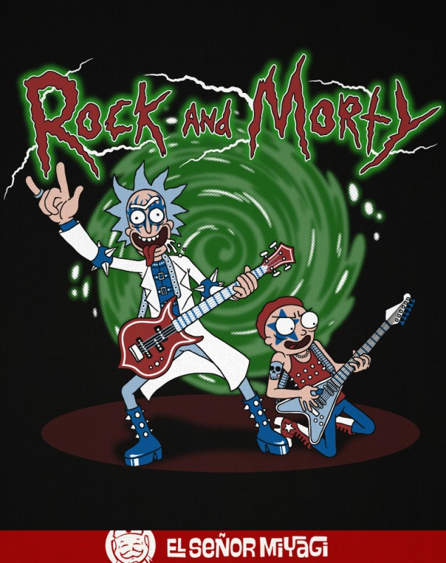 CAMISETA ROCK AND MORTY -TALLA L-