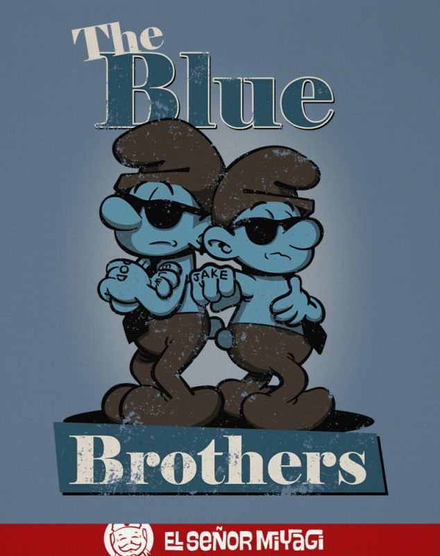 CAMISETA BLUE BROTHER -TALLA L-