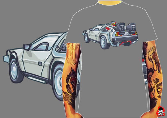 CAMISETA DELOREAN -TALLA L-