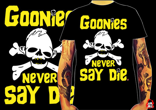 CAMISETA NEVER SAY DIE -TALLA M-