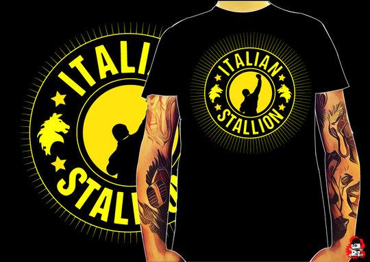 CAMISETA ITALIAN STALLION -TALLA L-
