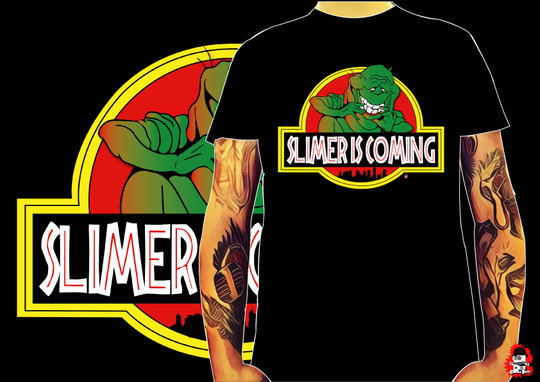 CAMISETA SLIMER IS COMING -TALLA L-