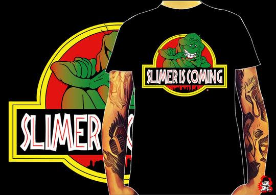 CAMISETA SLIMER IS COMING -TALLA M-