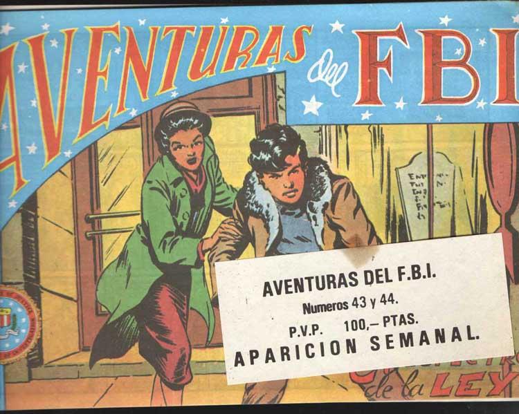 COMIC AVENTURAS DEL FBI 43-44